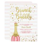 Brunch & Bubbly Bridal Shower  Pink Gold