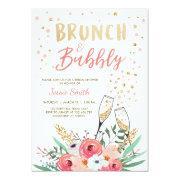 Brunch & Bubbly Bridal Shower  Pink Gold