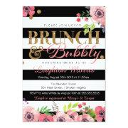 Brunch & Bubbly Glitter Black White Bridal Shower