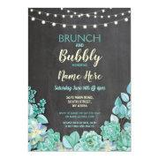 Brunch & Bubbly Succulents Bridal Shower Invite