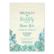 Brunch & Bubbly Succulents Bridal Shower Mint