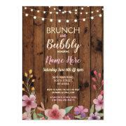 Brunch & Bubbly Vintage Flower Bridal Shower Wood