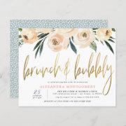 Budget Flowers Gold Brunch & Bubbly Bridal Shower