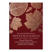 Burgundy And Gold Leaves Fall Bridal Shower