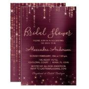 Burgundy And Rose Gold Bridal Shower Invitation