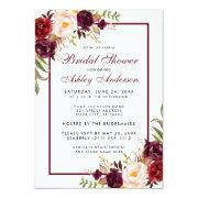 Burgundy Floral Bridal Shower