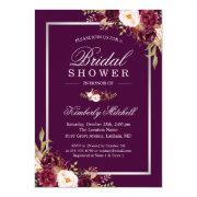 Burgundy Plum Purple Flowers Autumn Bridal Shower