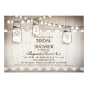 burlap and mason jars bridal shower invitations invitations