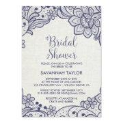 Burlap And Navy Lace | Floral Bridal Shower