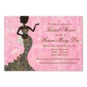 Camo Elegant Pink Bridal Shower Invitations