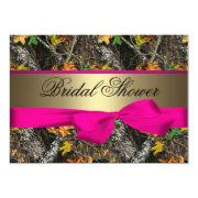Camo & Hot Pink Bridal Shower