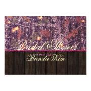 Camo Wood Pink Bridal Shower