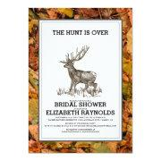 Camouflage The Hunt is Over Bridal Shower Invites Custom Invites