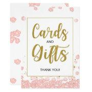 And Gifts Bridal Shower Sign | Pink And Gold