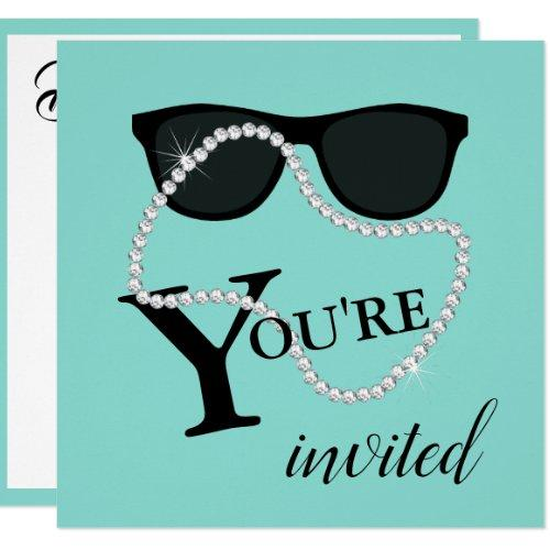 Celebrate Diamond Tiara Party Shower Invitation