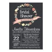 Chalkboard Bridal Shower  With Wreath