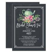 Chalkboard Bridal Shower Tea Wedding Shower Invite