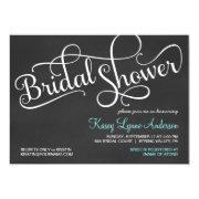 Chalkboard Bridal Wedding Shower