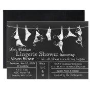 Chalkboard Lingerie Shower Invitatio Invitation