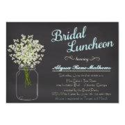 Chalkboard Mason Jar Bridal's Breath Bridal Luncheon