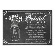 Chalkboard Mason Jar Bridal Shower