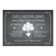 Chalkboard Mason Jar Rustic Couples Wedding Shower