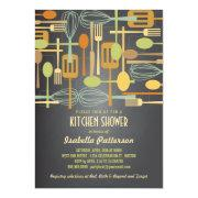 Chalkboard Retro Stock the Kitchen Bridal Shower Invite