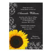 Chalkboard Sunflower Swirls Bridal Shower