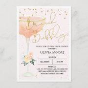 Champagne Brunch Bubbly Bridal Shower Invitation