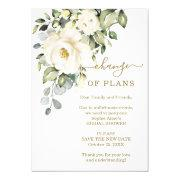 Change Of Plans Floral Bridal Shower Postponed Invitation