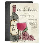 Cheers To Love Wine Couples Shower Invitation