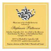 Chic Black & Gold Damask Bridal Shower Tea Party
