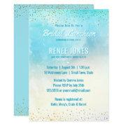 Chic Bridal Luncheon | Teal Blue Watercolor Shower