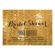 Chic Gold Sequin Bridal Shower