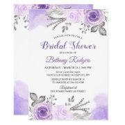 Chic Pastel Purple Rose Garden Bridal Shower
