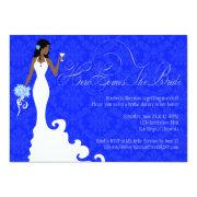 Chic Royal Blue Silver Damask Here Comes The Bride