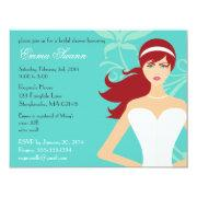 Chic Tiffany Blue Bridal Shower [redhead Bride]