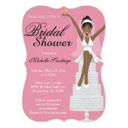 Chic White Modern Bridal Shower Invite