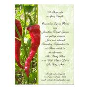Chili Pepper Wedding Shower Announcements