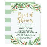 Christmas Holly Wreath Bridal Shower