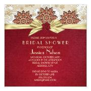 Christmas Joy Gold Ribbon Bridal Shower