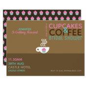 Coffee Cupcakes Bridal Shower  Pink Choc