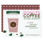 Coffee Donuts Bridal Shower  Pink Green