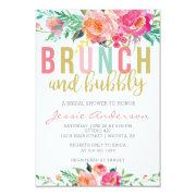 Colorful Brunch & Bubbly Bridal Shower Invitations