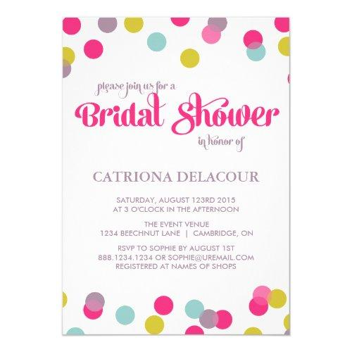Colorful Confetti Dots | Bridal Shower