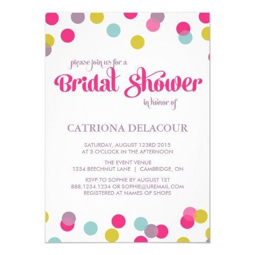Colorful Confetti Dots | Bridal Shower