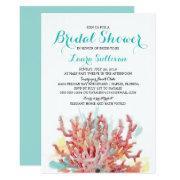 Colorful Coral Reef Watercolor | Bridal Shower Invitation