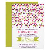 Colorful Geometric Triangles Bridal Shower