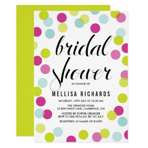 Colorful Polka Dots Bridal Shower Invitations