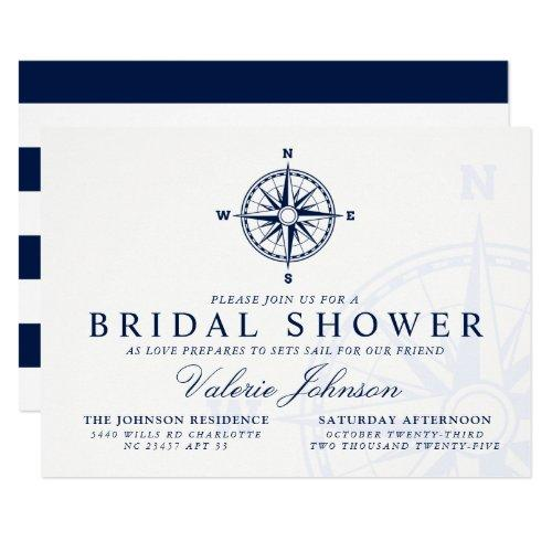Compass Rose | Nautical Themed Bridal Shower Invitation